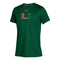 Miami Hurricanes adidas 2020 Youth Locker Side by Side Climatch S/S T-Shirt - Green