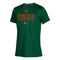 Miami Hurricanes adidas 2020 Youth CLIMATCH S/S T-Shirt - Green  GF2470