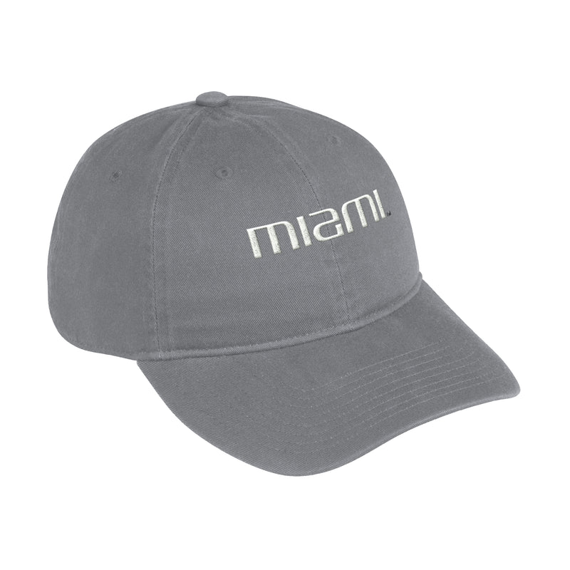 Miami Hurricanes adidas 2020 Cotton Slouch Adjustable Hat- Grey