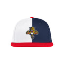 Florida Panthers 2021 adidas Reverse Retro Flat Brim Snap Back - Navy