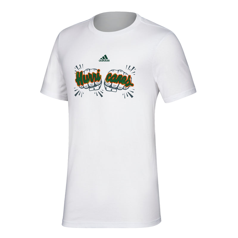 Miami Hurricanes adidas 2019 Touchdown Rings T-Shirt - White