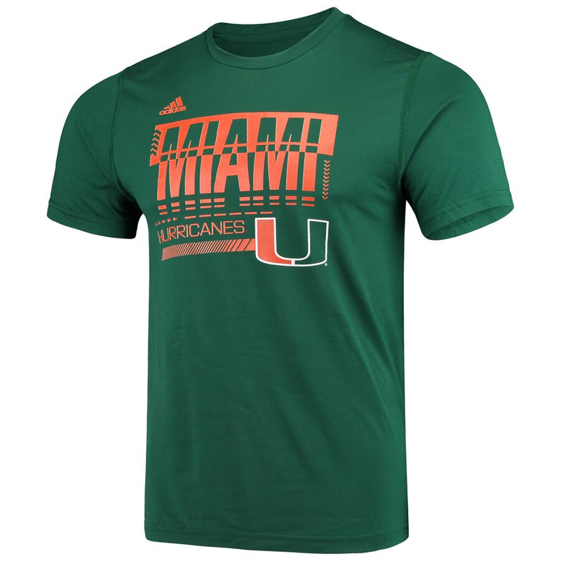 Miami Hurricanes adidas 2019 Creator SS Game Day T-Shirt - Green