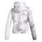 Miami Hurricanes adidas 2020 Women's Post Season Travel White Camo Full Zip Jacket