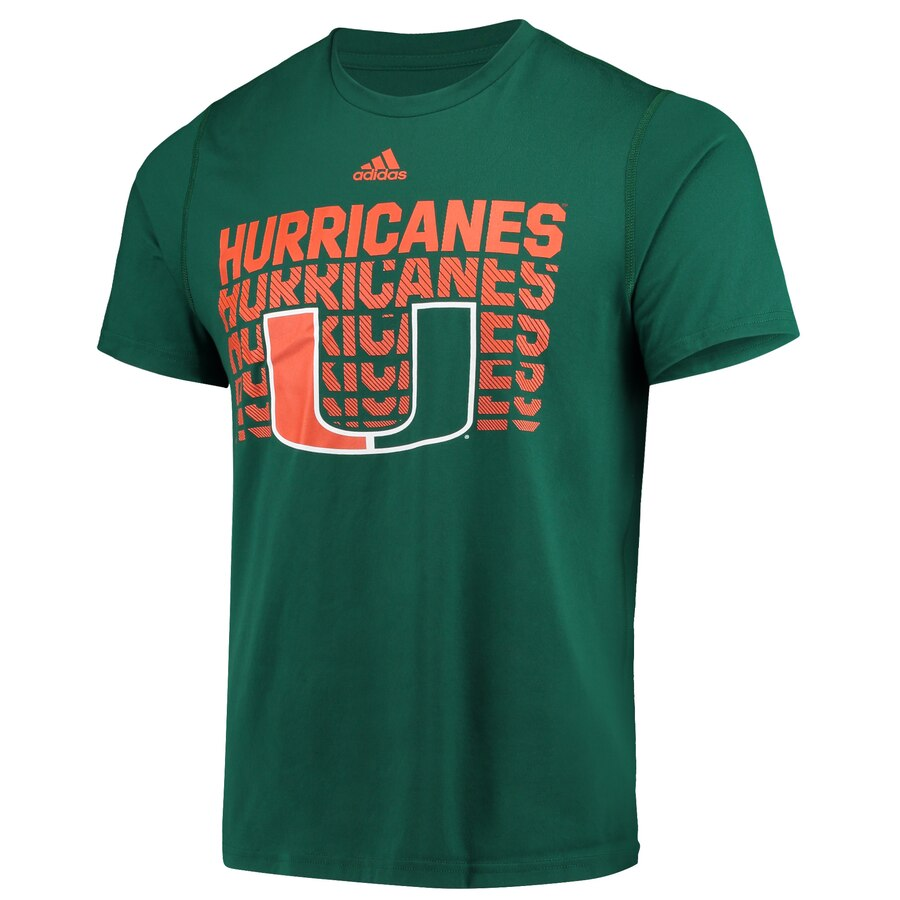 Miami Hurricanes adidas 2019 adidas Logo Game Day Creator T-Shirt- Green