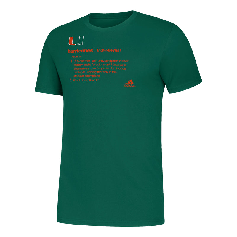 Miami Hurricanes adidas 2019 Amplifier Definition T-Shirt - Green