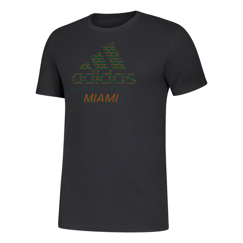 Miami Hurricanes adidas 2019 Basketball Amplifier SS T-Shirt - Black