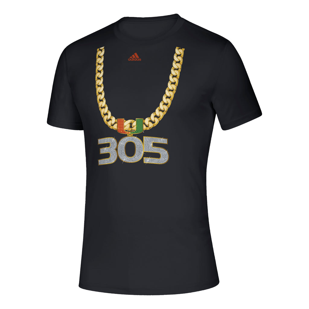 Miami Hurricanes 2019 adidas 305 Turnover Chain T-Shirt - Black