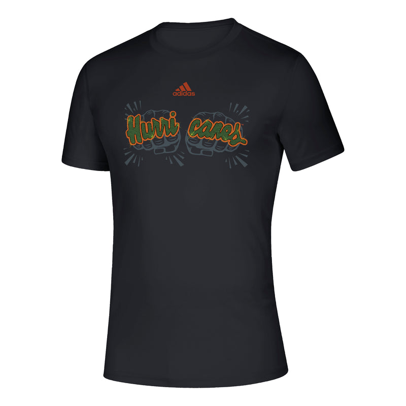 Miami Hurricanes adidas 2019 Touchdown Rings T-Shirt - Black