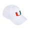 Miami Hurricanes adidas 2020 U Adjustable Hat- White