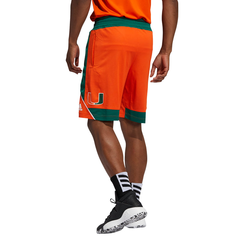 Miami Hurricanes 2021 adidas Basketball Shorts - Orange