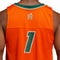 Miami Hurricanes 2021 adidas Reverse Retro Basketball Jersey - Orange