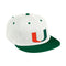 Miami Hurricanes adidas 2021 On Field Baseball Fitted Cap - White