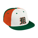 Miami Hurricanes adidas 2021 On Field Mesh Baseball Cap - Tri-Color