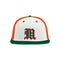 Miami Hurricanes adidas 2021 On Field Old English M Mesh Baseball Cap - Tri-Color