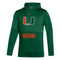 Miami Hurricanes 2021 Team Issue Pullover Hoodie - Green