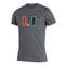 Miami Hurricanes adidas 2021 U Tri-Blend T-Shirt - Heathered Grey