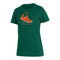Miami Hurricanes 2020 adidas Women's Ultra Boost Amplifier SS T-Shirt - Green