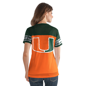 Miami Hurricanes Women's 2018 Pass Rush Jersey Shirt - Orange