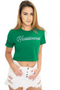 Miami Hurricanes INSZN Crop Top T-Shirt - Green
