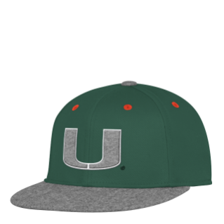 new arrivals c8339 13659 ... uk miami hurricanes adidas hat green with silver u flat brim flex  fitted hat 08001 41126