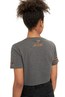 Miami Hurricanes INSZN Crop Top T-Shirt - Charcoal Grey