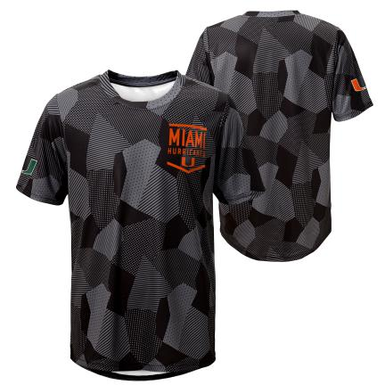 Miami Hurricanes  STADIUM SUBLIMATED DRITEK SS T-Shirt