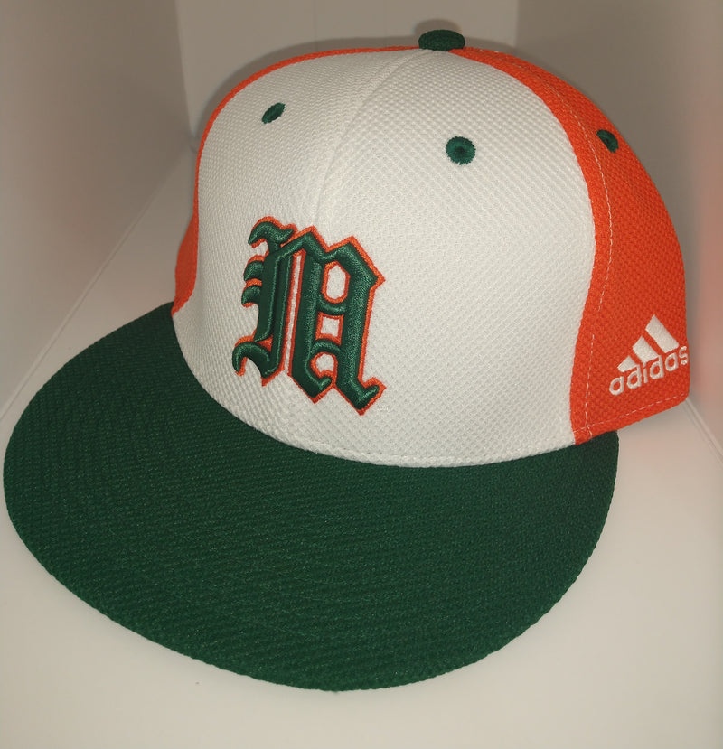 Miami Hurricanes adidas 2020 On Field Mesh Baseball Cap - Tri-Color