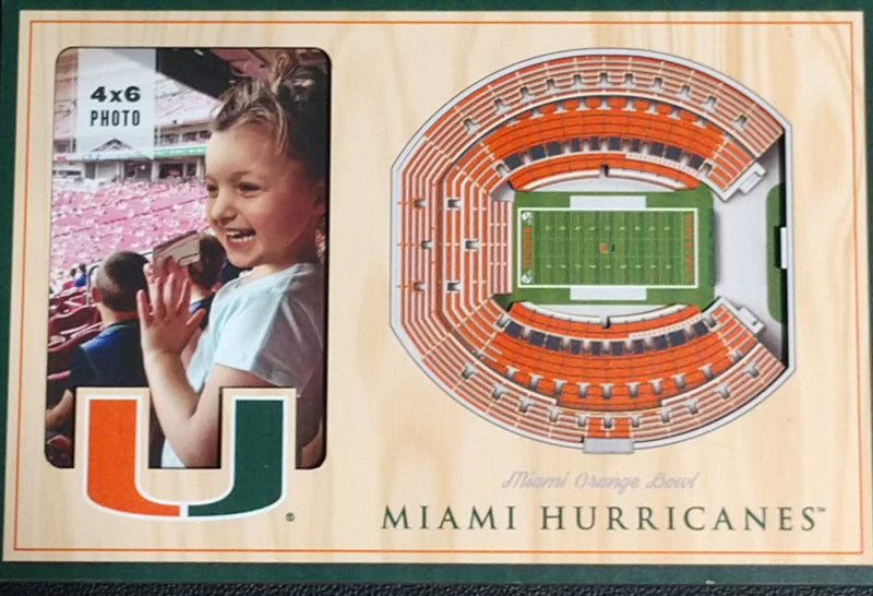 Miami Hurricanes 3D Stadium Views Orange Bowl Picture Frame - 8