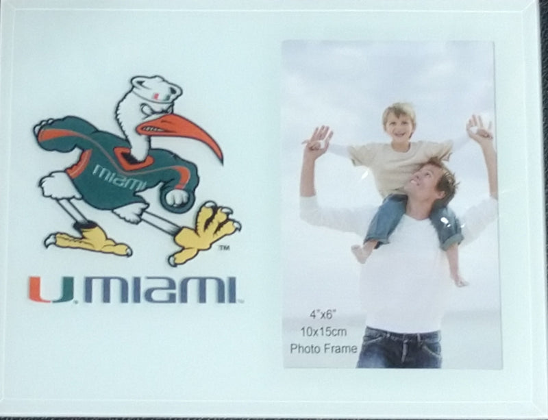 Miami Hurricanes 4x6 Sebastian U Miami Photo Frame
