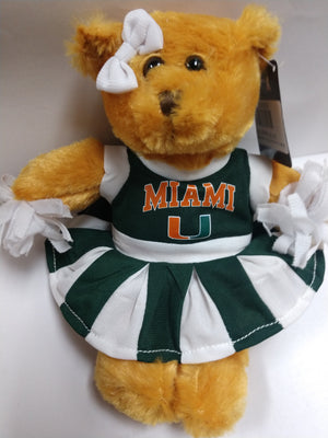 Miami Hurricanes Plush Cheer Bear 8 inches