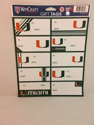 Miami Hurricanes gift tags - CanesWear at Miami FanWear general Wincraft CanesWear at Miami FanWear