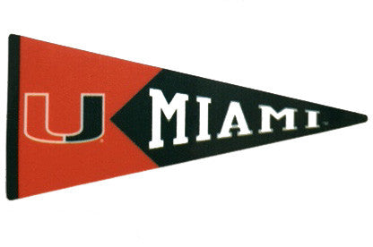"Miami Hurricanes 2"" Pennant Dizzler Decal - CanesWear at Miami FanWear Decals & Stickers SDS Design Associates CanesWear at Miami FanWear"
