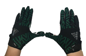 Miami Hurricanes Adizero by Adidas Football Gloves - Black - CanesWear at Miami FanWear Accessories Adidas CanesWear at Miami FanWear