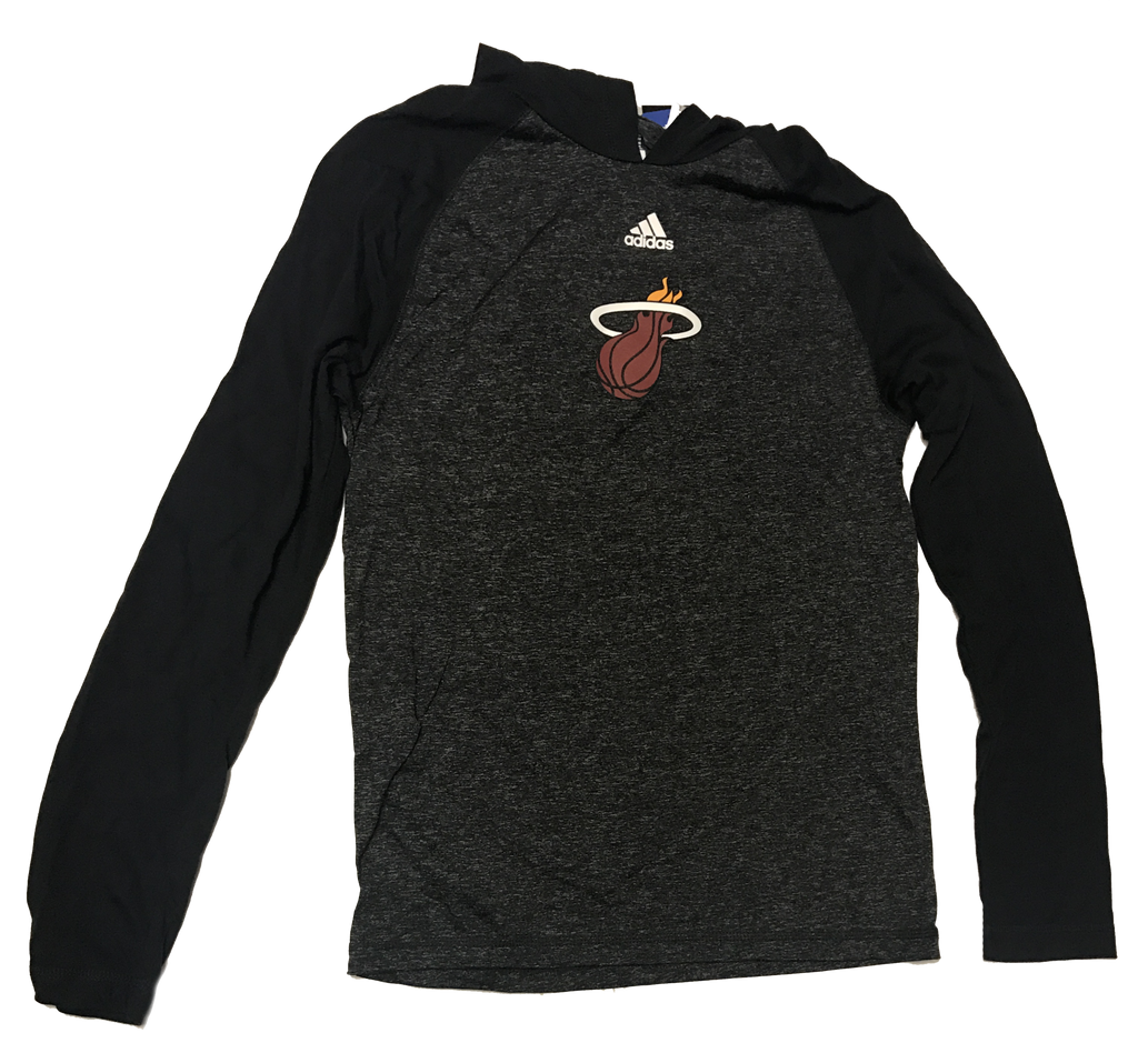 Miami Heat adidas Ultimate Long Sleeve Hoodie - CanesWear at Miami FanWear Men's T-Shirt Adidas CanesWear at Miami FanWear