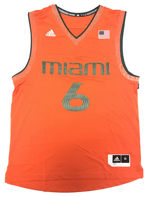 Miami Hurricanes adidas Ice Out Reflective Basketball Jersey - Orange