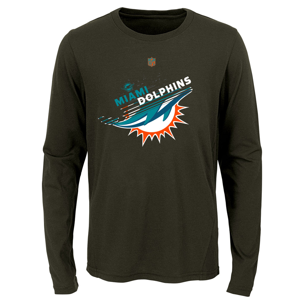 Miami Dolphins Youth Propulsion Sublimated Dri-T