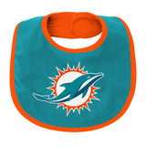 Miami Dolphins Super Cute Fan 3 Piece Creeper Set with Bib and Booties
