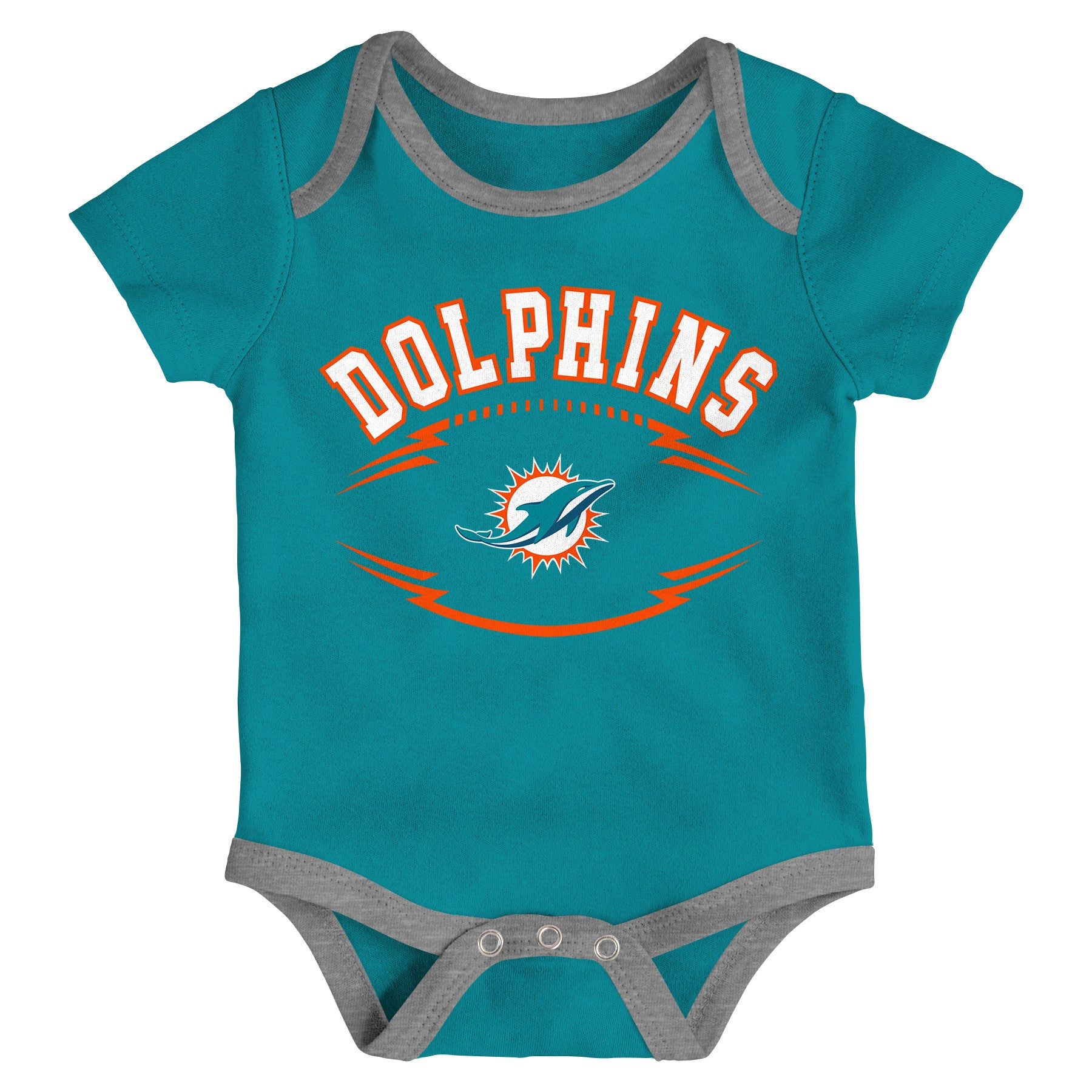290fc2d0a Miami Dolphins Infant Rookie of the Year Onesie 3 Piece Set ...