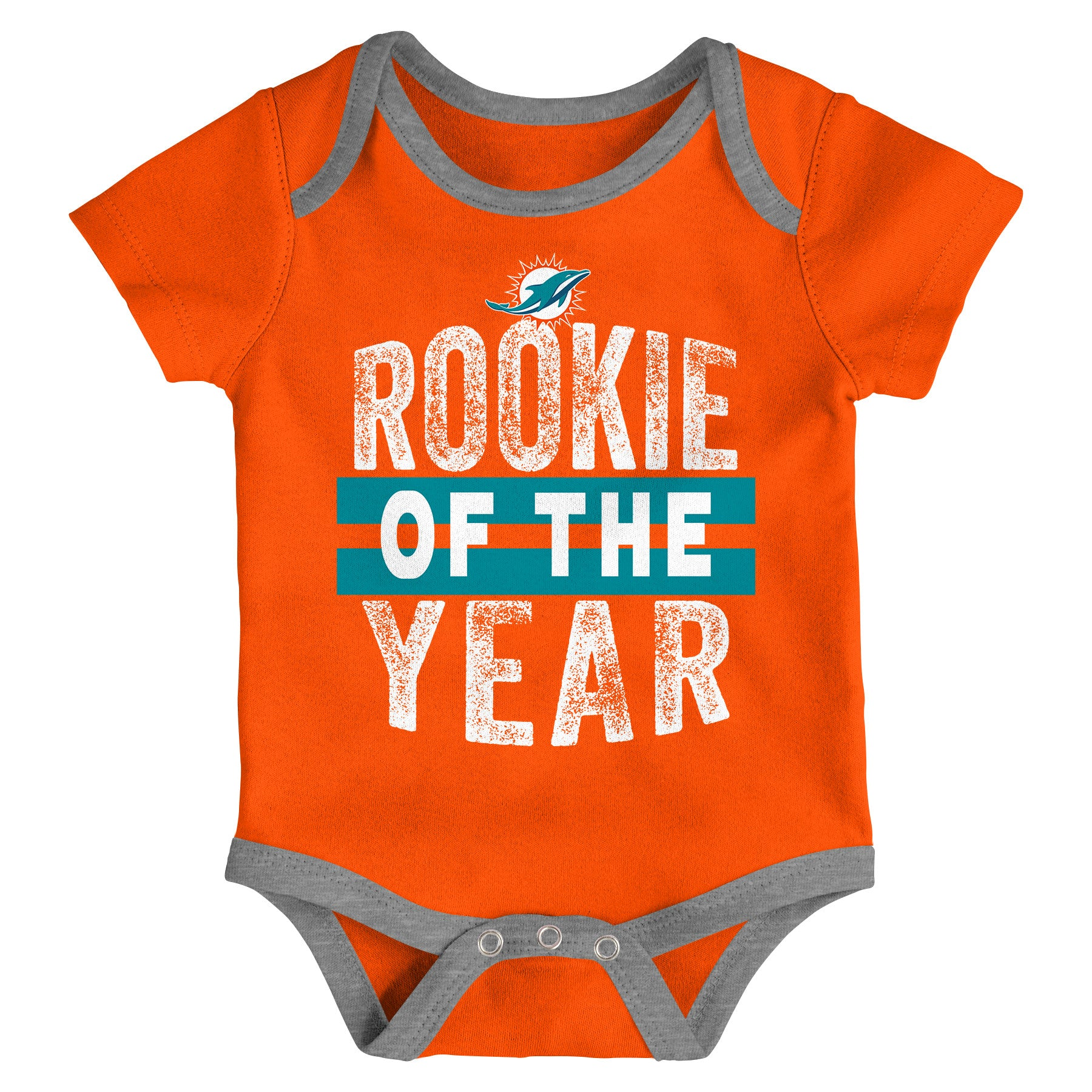 36912f49 Miami Dolphins Infant Rookie of the Year Onesie 3 Piece Set