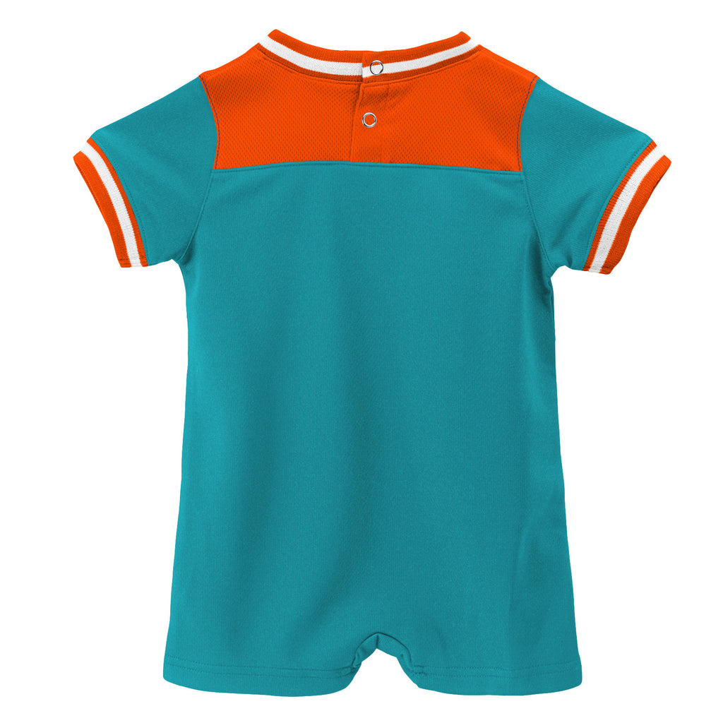 Miami Dolphins  Baby Outerstuff Football Creeper- Aqua