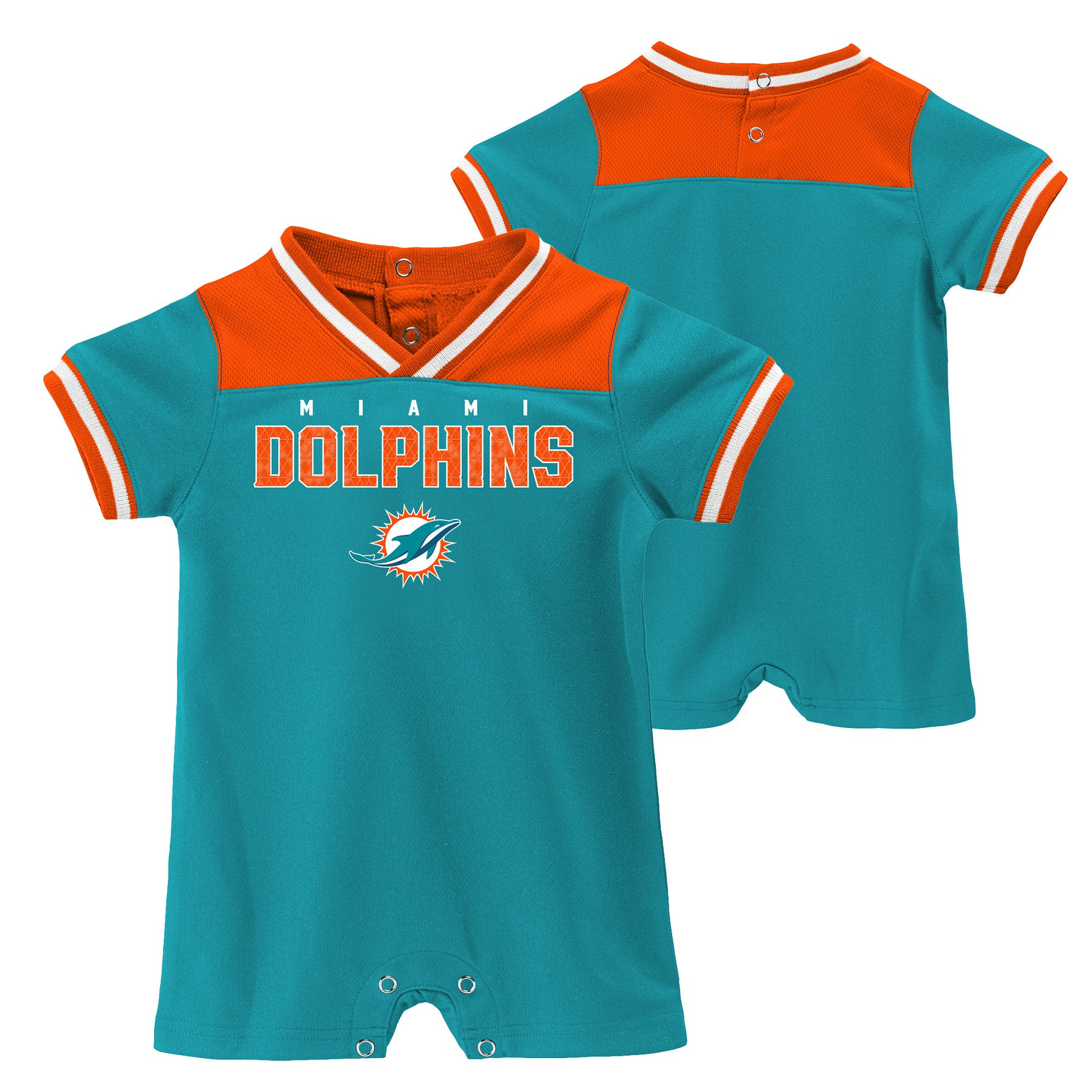 low priced f7095 4b741 Miami Dolphins Baby Outerstuff Football Creeper- Aqua