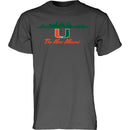 "Miami Hurricanes ""The New Miami' T-shirt - Charcoal"
