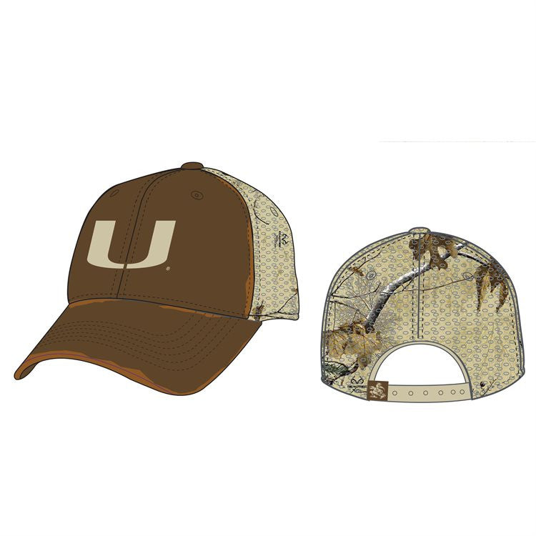 Miami Hurricanes Liberty RealTree Trucker Snap Back Hat - Camo