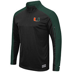 Miami Hurricanes Colosseum Men's APU 1/4 Zip Windshirt