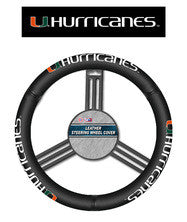 Miami Hurricanes Leather Steering Wheel Cover - CanesWear at Miami FanWear Automobile Accessories Fremont Die CanesWear at Miami FanWear