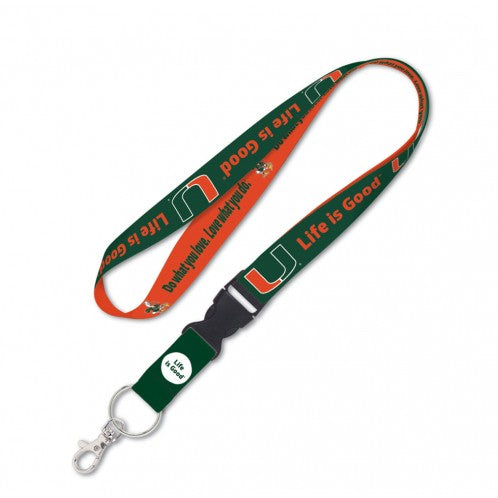 Miami Hurricanes Lanyard KeyChain - LIFE IS GOOD