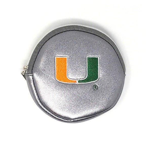 Miami Hurricanes Luca Wallet – Metallic Pewter