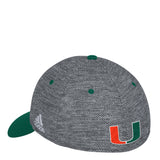 Miami Hurricanes adidas 2017 Gray Script Structured Flex Hat