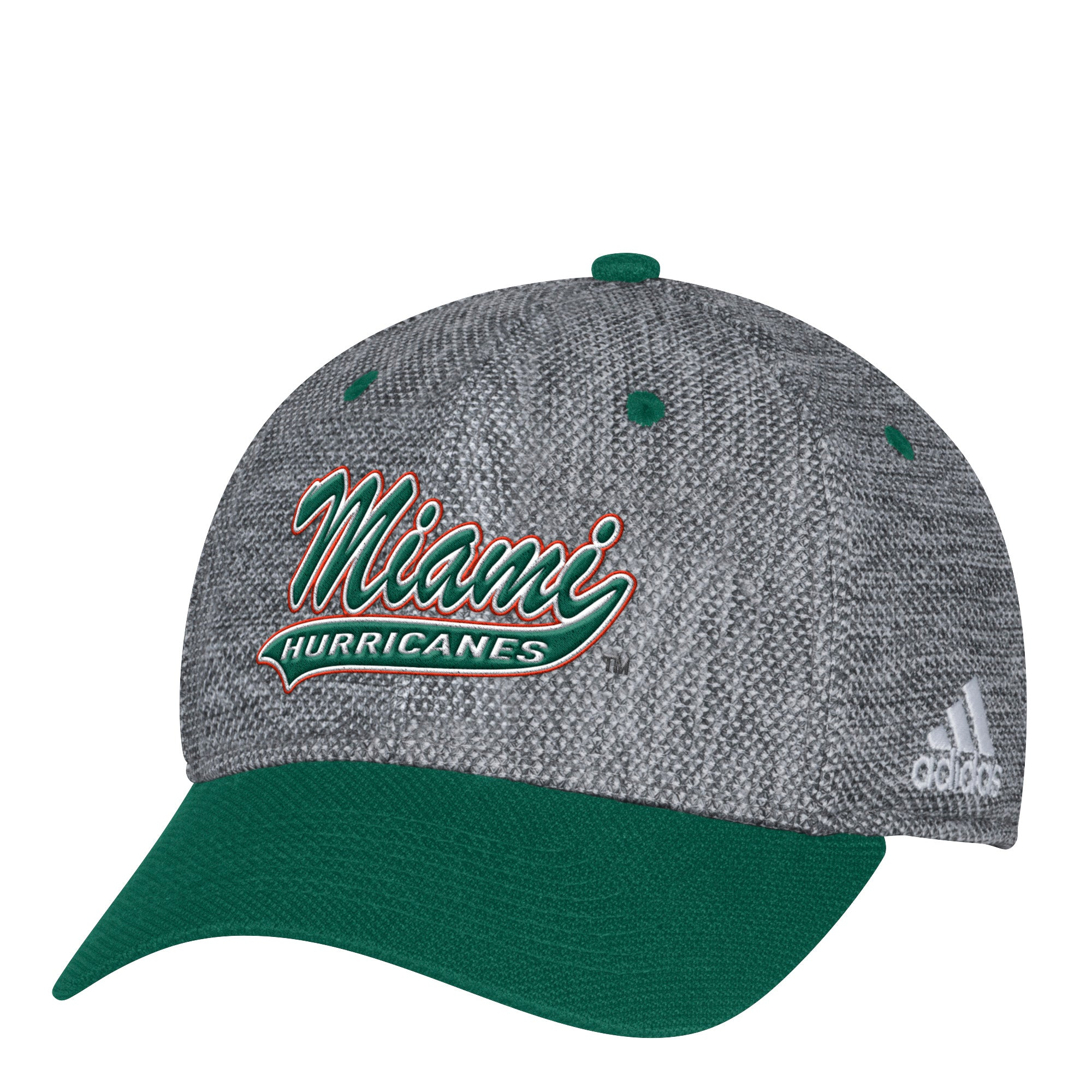 first rate 5d86a 5450b Miami Hurricanes adidas 2017 Gray Script Structured Flex Hat – CanesWear at Miami  FanWear