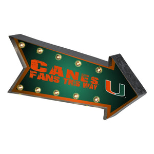 Miami Hurricanes Running Light Marquee Sign